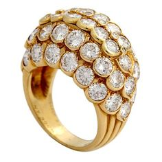Gold and Diamond Dome ring - VCA