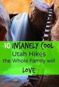 10 Insanely Cool hikes in Utah the Whole Family will Love Your Hike Guide All Family, Family Travel, Family Vacations, Family Trips, Dream Vacations, Friends Family, Utah Parks, Slc Utah, Moab Utah