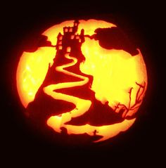Spooky-Castle-pumpkin-carving-Fake-Pumpkin-2015