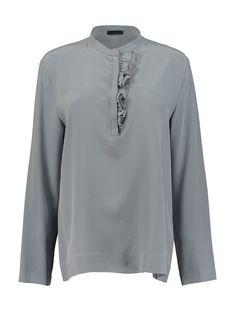 Блуза Peserico. Цвет голубой,серый.