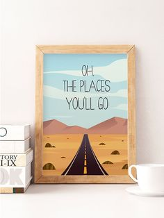 Inspirational nursery quote Oh the places you'll go by NorseKids