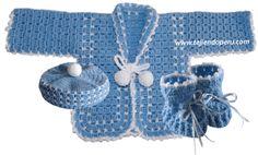 conjunto para bebe crochet