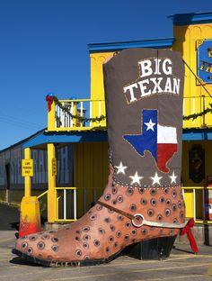 BIG TEXAN  Big Texan Steak Ranch, Amarillo.  Home of the five pound steak dinner.