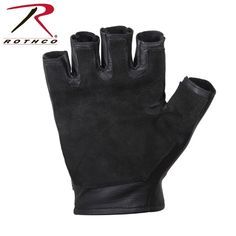 Leather /& Suede Gloves 2816 Rothco Black Tactical Full Finger Padded Gloves