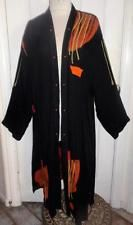 "ART TO WEAR Very Long OPEN FRONT Abstract Print JACKET DUSTER - 58""B / 3XL NWT"