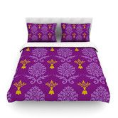 Found it at Wayfair - Purple Crowns by Nicole Ketchum Cotton Duvet Cover