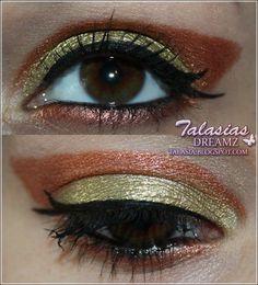 Eye Make Up - Datum: 23.03.2012  http://talasia.blogspot.de/2012/03/tag-kleines-lidschatten-1x1-kupfer-gold.html