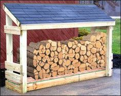 Outdoor firewood storage with space for kindling under the curve. Description from pinterest.com. I searched for this on bing.com/images