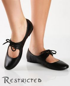 Restricted Flash Dance Black Mary Jane Flat