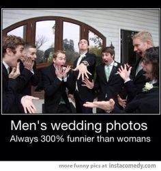 Men's wedding photos