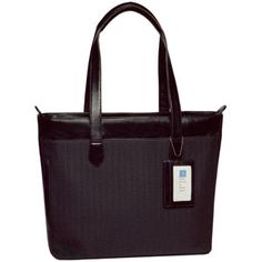 """Alicia Klein """"Nancy"""" Monterey Smooth Leather Laptop Briefcase. A smart zipped, glossy leather laptop brief."""