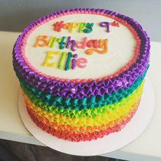 Signature rainbow ruffle cake by Hayleycakes and cookies