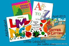 Weekly lesson plans for parents of kids 9 months-Kindergarten. Supply list for Alphabet theme.
