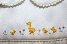 wee little duckies--so cute!  Too bad that they're made completely with bullion stitch!