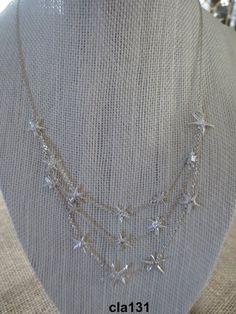 Argento Three Strand Starfish Necklace – Morgana