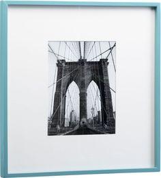 square aqua hi-gloss frame  | CB2
