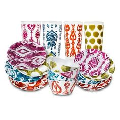 Rayna Dinnerware Collection  sc 1 st  Pinterest & Mudhut™ Ikat Melamine Dinner Plate Set of 4 : Target | Mermaid ...