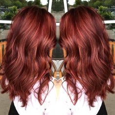 56 ideas hair red brown fall for 2019 - Cabello Rubio Shades Of Red Hair, Ombre Hair Color, Hair Colors, Fall Red Hair, Brown To Red Hair, Brown To Red Ombre, Burgundy Hair, Dark Red, Red Balayage Hair