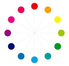 12 colors of color wheel chart - brightest color