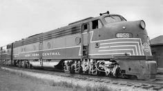 Richard Leonard's Vintage Diesel Miscellany - New York Central EMD 4059 Diesel Locomotive, Steam Locomotive, New York Central Railroad, Train Truck, Diesel Engine, Train Travel, Model Trains, Nyc, Steamers