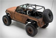 During the last couple of years we have featured some very cool custom vehicles, but this has to be up there with the most unusual! The Rusted Terra Crawler, has a name that says it all, the Jeep Cop4x4 is painted in an original Brown rust color and