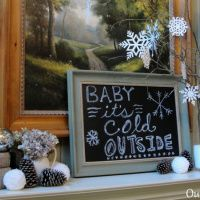 Creating A Cozy Winter Mantel - Our Southern Home