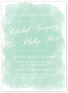 Paint it Watercolor Invitation - Eye Heart Stationery.always love watercolour. Wedding Inspiration, Wedding Ideas, Chic Wedding, Wedding Stationery, Wedding Invitations, Watercolor Invitations, Wedding Paper, Country Chic, Paper Goods