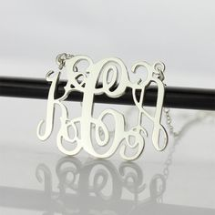 Personalized Name Jewelry Monogram Necklace Silver/ Gold Initial Letter Necklace Sterling Silver Monogram Necklace, Name Necklace Silver, Name Earrings, Monogram Jewelry, Name Jewelry, Custom Name Necklace, Engraved Jewelry, Letter Necklace, Sterling Silver Jewelry