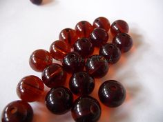Round beads glass chez 10 mm supplies jewelry by ShimmeringCloud, $3.00