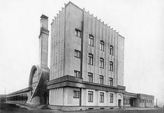 Gosplan Garage: general view c. 1936 Archival Index Card and photographs(s) 13.6 x 20 cm Architects: Konstantin Melnikov with V. I. Kurochkin, 1936 © Courtesy the Department of Photographs, Schusev State Museum of Architecture, Moscow