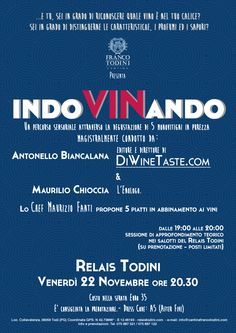 Next Friday @Gianluca Migliorisi Todini! With Antonello Biancalana diwinetaste.com