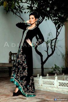 Designer-Adnan-Khan-Wedding-wear-Frock-Lehnga-Long-Shirt-with-churidar-for-women_06.jpg 460×690 pixels