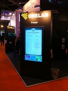 """55"""" Touch screen digital menu board and reservation application at ISE 2013. Content developed by Eclipse Digital Media, running on ONELAN NTB and DCE software, displayed on Elo Touch. More info: http://www.eclipsedigitalmedia.co.uk/ise-amsterdam-2013-review-eclipse-digital-media-and-onelan/ #ISE2013 #ISE @Isela Morelos"""