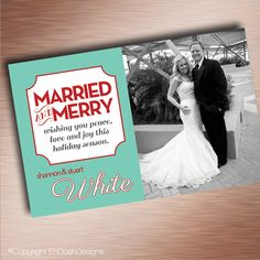 Newlywed Christmas Card 5x7 Linen Stock Quany 20 49 85 Via Etsy