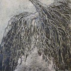 """Inge Kjær: Fra udstillingen """"Kraften indefra"""", Thyholm."""