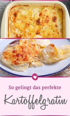 The best tips for the perfect potato gratin. The best tips for the perfect potato gratin. Seafood Recipes, Vegetarian Recipes, Snack Recipes, Dinner Recipes, Healthy Recipes, Dessert Recipes, Easy Smoothie Recipes, Easy Smoothies, Potato Gratin Recipe