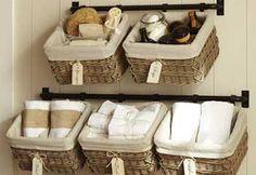 25 Ideas sencillas para organizar un cuarto de baño.  | Mil Ideas de Decoración