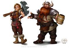 https://www.behance.net/gallery/40819329/VIKINGS-Character-Design