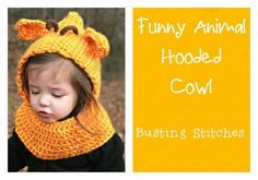 funny animal hooded cowl