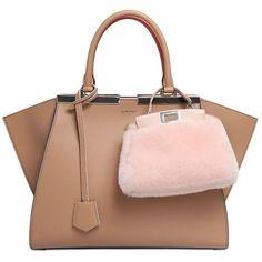 FENDI Micro Peekaboo Shearling Shoulder Bag ($1,950) ❤ liked on Polyvore featuring bags, handbags, shoulder bags, fendi purses, accessories handbags, shoulder handbags and fendi