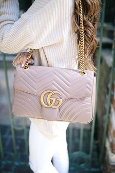 ✧GUCCI✧ GG Marmont Large Chevron Quilted Leather Shoulder Bag #designerbag #fashion #fashionista
