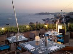 THE GAJA ROOF & SKY BAR  Istanbul, Turkey    Hotel: Swissôtel The Bosphorus  What you'll see: Dolmabahçe Mosque to the south (and the historic Dolmabahçe Gardens below); the European coast of the Bosphorus; and Istanbul's old city, including Maiden's Tower, Hagia Sophia, and the Blue Mosque
