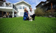 Chris and Rick Alexander on their clover lawn in West Vancouver, composed of 90 per cent clover and 10 per cent perennial rye. Lawn And Landscape, Landscape Design, Clover Lawn, Grass Alternative, Drought Tolerant Garden, Home Landscaping, Lawn Care, Outdoor Projects, Outdoor Decor