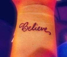 I want to get an small inspirational tattoo(: