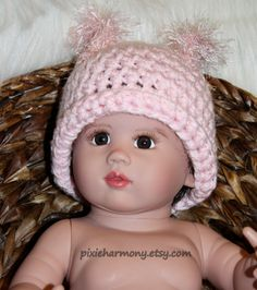 Baby Girl Squirrel Hat  Photo Prop  Winter Hat  by pixieharmony