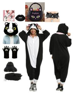 """""""My kigurumi Halloween!!❣️❣️🐱"""" by skb5475 on Polyvore featuring Accessorize and Lime Crime"""
