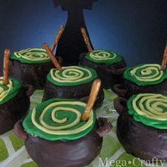 Cauldron Cupcake