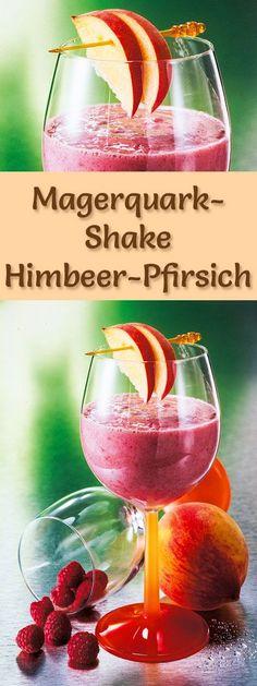 Rezept für einen Magerquark-Shake Himbeer-Pfirsich mit viel Eiweiß - und weitere leckere Magerquark-Rezepte zum Abnehmen ...