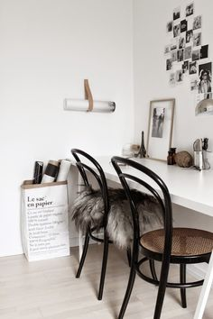 Strop, thonet 214 chairs and le sac in a beautifully captured Danish home. Photography Johanne Dueholm