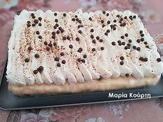 Συνταγές για διαβητικούς και δίαιτα: Εκμεκ με βάση τσουρέκι - κρέμα μαστίχας - σαντιγί Krispie Treats, Rice Krispies, Tiramisu, Sweets, Bread, Ethnic Recipes, Desserts, Food, Tailgate Desserts